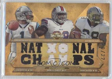 2012 Topps Triple Threads Relic Combos Sepia #TTRC-40 - Cam Newton, Mark Ingram /27
