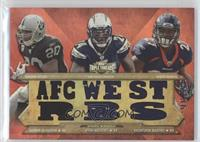 Darren McFadden, Ryan Mathews, Knowshon Moreno /36