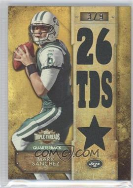 2012 Topps Triple Threads Relics Gold #TTR-94 - Mark Sanchez /9