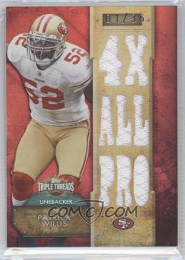 2012 Topps Triple Threads Relics #TTR-114 - Patrick Willis /36
