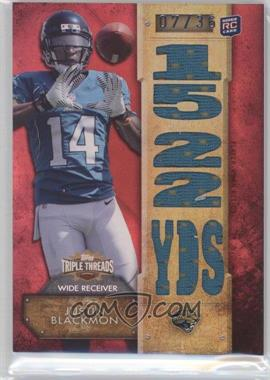 2012 Topps Triple Threads Relics #TTR-27 - Justin Blackmon /36