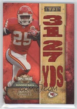 2012 Topps Triple Threads Relics #TTR-63 - Jamaal Charles /36