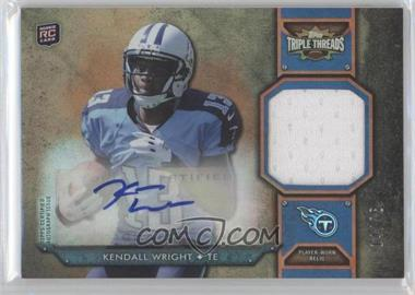 2012 Topps Triple Threads Rookie Autograph Relics Sepia #TTRAR-59 - Kendall Wright /75