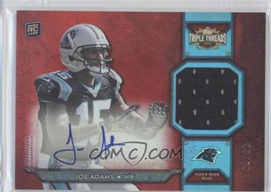 2012 Topps Triple Threads Rookie Autograph Relics #TTRAR-2 - Joe Adams /99