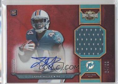 2012 Topps Triple Threads Rookie Autograph Relics #TTRAR-30 - Lamar Miller /99