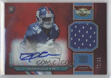 2012 Topps Triple Threads Rookie Autograph Relics #TTRAR-52 - David Wilson /99