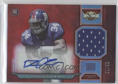2012 Topps Triple Threads Rookie Autograph Relics #TTRAR-57 - David Wilson /99