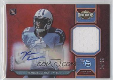 2012 Topps Triple Threads Rookie Autograph Relics #TTRAR-59 - Kendall Wright /99
