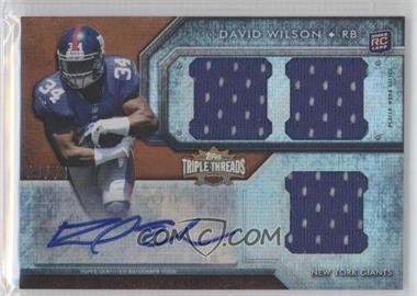 2012 Topps Triple Threads Sepia #105 - David Wilson /70