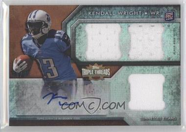 2012 Topps Triple Threads Sepia #134 - Kendall Wright