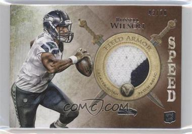 2012 Topps Valor Field Armor Patch Speed #FAP-RW - Russell Wilson /70