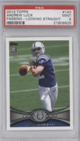 Andrew Luck short print: Beginning to cock arm back [PSA 9]