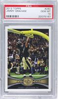Jimmy Graham (Short Print: Dunking Ball Over Goalpost) [PSA 10]