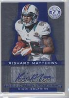 Freshman Phenoms Signatures - Rishard Matthews /99