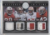 Michael Crabtree, Jeff Garcia, Jerry Rice, Ronnie Lott /49