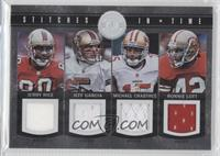 Ronnie Lott, Jeff Garcia, Jerry Rice, Michael Crabtree /199