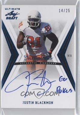 2012 Ultimate Leaf Draft - Inscriptions - Blue #JB2 - Justin Blackmon /25