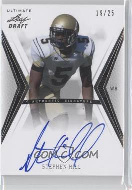 2012 Ultimate Leaf Draft Silver #SH1 - Stephen Hill /25