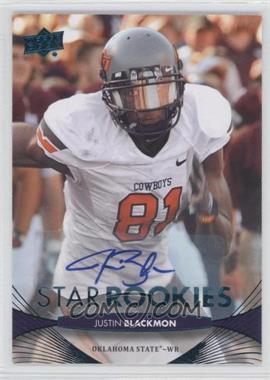 2012 Upper Deck - [Base] - Star Rookies Autographs [Autographed] #98 - Justin Blackmon