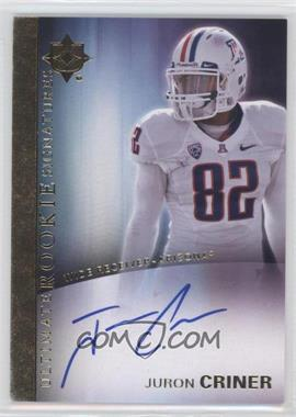 2012 Upper Deck - Ultimate Collection Ultimate Rookie Signatures #12 - Juron Criner