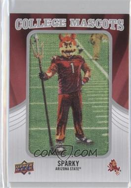 2012 Upper Deck College Mascots Manufactured Patch #CM-2 - Sparky (Arizona State)