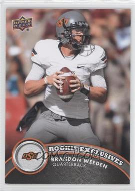 2012 Upper Deck Rookie Exclusives #RE-BW - Brandon Weeden