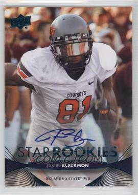 2012 Upper Deck Star Rookies Autographs [Autographed] #98 - Justin Blackmon