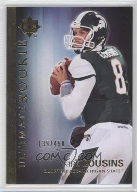 2012 Upper Deck Ultimate Collection Ultimate Rookie #36 - Kirk Cousins /450