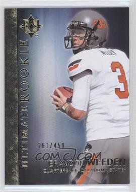 2012 Upper Deck Ultimate Collection Ultimate Rookie #8 - Brandon Weeden /450