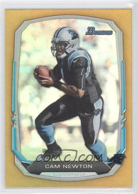 2013 Bowman - [Base] - Gold Rainbow Foil #32 - Cam Newton /75
