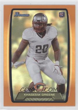 2013 Bowman - [Base] - Orange Rainbow Foil #118 - Khaseem Greene /299