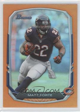 2013 Bowman - [Base] - Orange Rainbow Foil #47 - Matt Forte /50