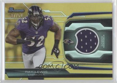 2013 Bowman - Relic - Gold #BR-RL - Ray Lewis /50
