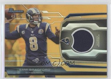 2013 Bowman - Relic - Gold #BR-SB - Sam Bradford /50