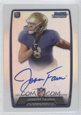 2013 Bowman - Rookie Chrome Refractor Autograph #RCRA-JFA - Joseph Fauria
