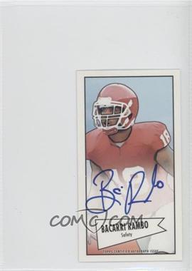 2013 Bowman Autograph Mini Cards 1952 Design [Autographed] #52B-BR - Bacarri Rambo