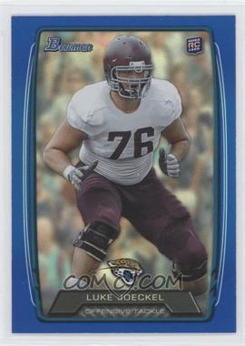 2013 Bowman Blue Rainbow Foil #125 - Luke Joeckel /499