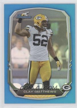 2013 Bowman Blue Rainbow Foil #83 - Clay Matthews /99