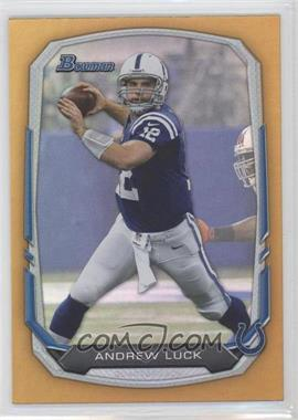 2013 Bowman Gold Rainbow Foil #20 - Andrew Luck /75
