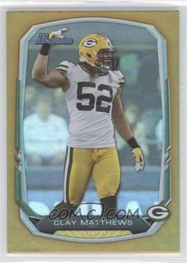 2013 Bowman Gold Rainbow Foil #83 - Clay Matthews /75