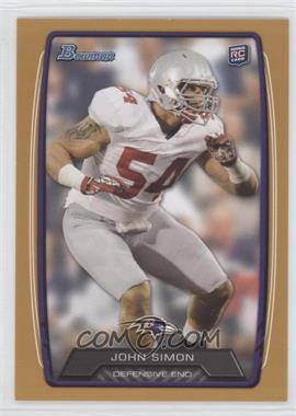 2013 Bowman Gold #178 - John Simon /399