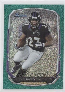 2013 Bowman Green Ice #30 - Ray Rice /50