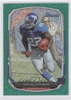 2013 Bowman Green Ice #95 - David Wilson /50