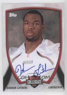 2013 Bowman NFLPA Collegiate Bowl Autographs #12 - Herman Lathers