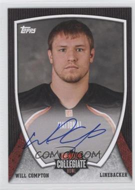 2013 Bowman NFLPA Collegiate Bowl Autographs #30 - Will Compton