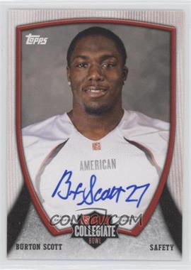 2013 Bowman NFLPA Collegiate Bowl Autographs #46 - Burton Scott