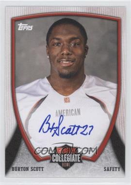 2013 Bowman NFLPA Collegiate Bowl Autographs #46 - Burton Scott