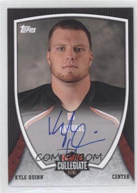 2013 Bowman NFLPA Collegiate Bowl Autographs #87 - Kyle Quinn