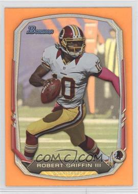 2013 Bowman Orange Rainbow Foil #110 - Robert Griffin III /50