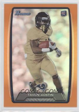 2013 Bowman Orange Rainbow Foil #130 - Tavon Austin /299